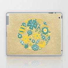 Little Flower Circle Laptop & iPad Skin
