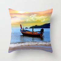 thailand Throw Pillows featuring  thailand by mark ashkenazi
