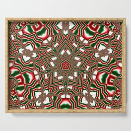Christmas Kaleidoscope Serving Tray