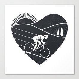 Love Cycling Canvas Print