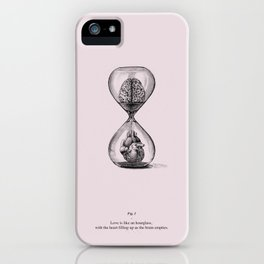 Love is like an hourglass iPhone Case