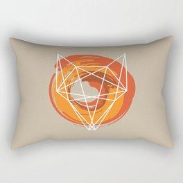 Geometric Fox Rectangular Pillow