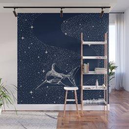 Starry Shark Wall Mural