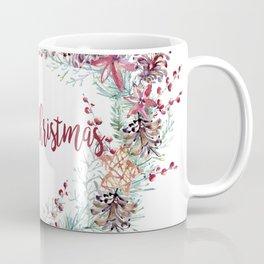 Xmas Wreath White Coffee Mug