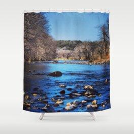 Pedernales Flowing Shower Curtain