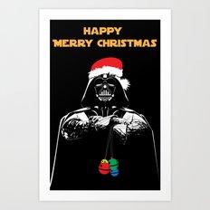Happy Christmas Vader Art Print