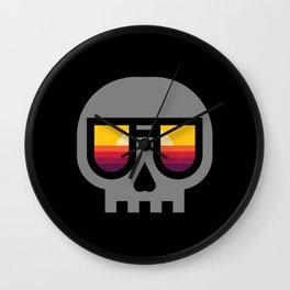 Sunset Skull Wall Clock