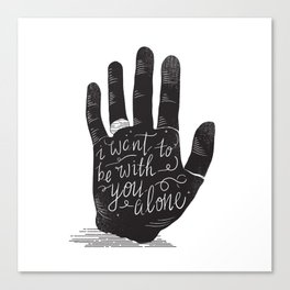 Hand-Etch-Type Canvas Print