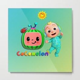 Cocomelon Nursery Rhymes Kids Songs Metal Print