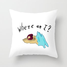 Lost traveler Throw Pillow