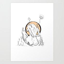 Laxin' Art Print