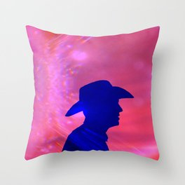 Rama-Rama Cowboy Throw Pillow