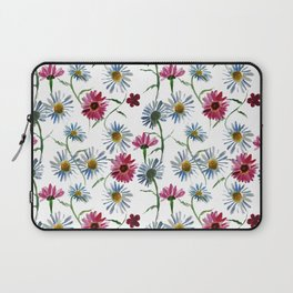 Watercolor rose and blue camomiles Laptop Sleeve