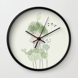 Pond of tranquility Wall Clock