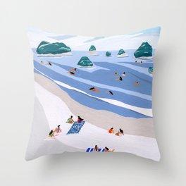 Island Dots Throw Pillow