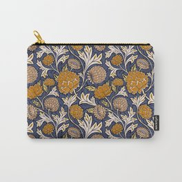Countryside Garden - Blue and Orange Carry-All Pouch