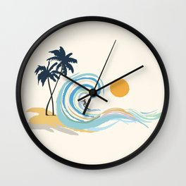 Minimalistic Summer II Wall Clock
