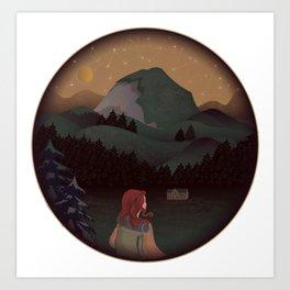 Montain Hiker Art Print