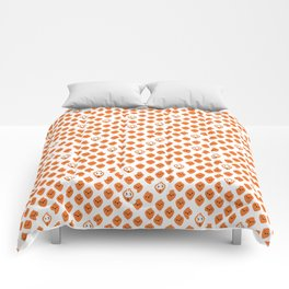 Bunnies in carrot's clothing (pattern) Comforters
