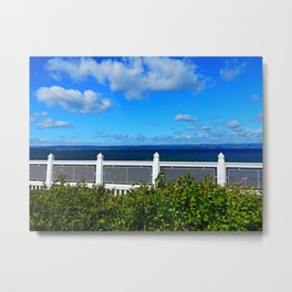 Shoreline Fence Metal Print