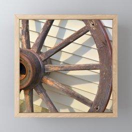 Wheel of a Wagon Framed Mini Art Print