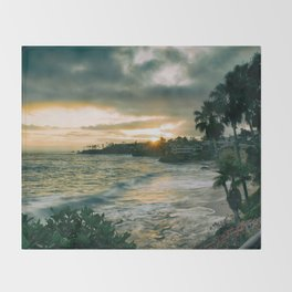 Cloudy Sunset Throw Blanket