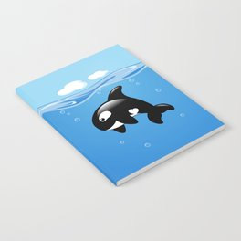 Orca, Cute Killer Whale Notebook