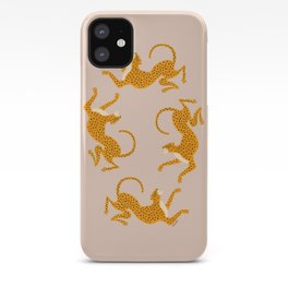 Leopard Race - pink iPhone Case