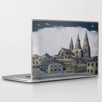 sweden Laptop & iPad Skins featuring Uppsala Sweden by Alejandro D