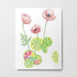 Fruity Blooms! Metal Print