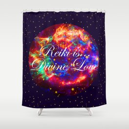 Reiki is Divine Love | The Energy it Flows | Going with the Flow Shower Curtain