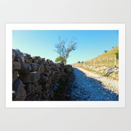 Mountain road to the old Bosnian village Art Print