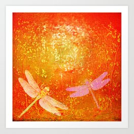 Dragonflies the forgotten clearing Art Print