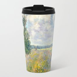Poppy Fields near Argenteuil by Claude Monet Travel Mug