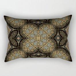 Victorian Art Deco Medieval Pattern brown SB24 Rectangular Pillow
