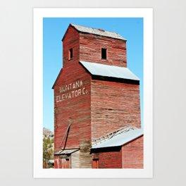 Montana Grain Elevator Art Print