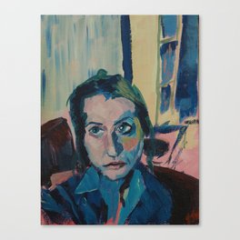 Blue Living Room  Canvas Print