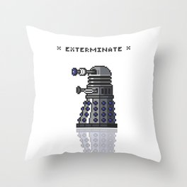 Pixel Dalek Throw Pillow