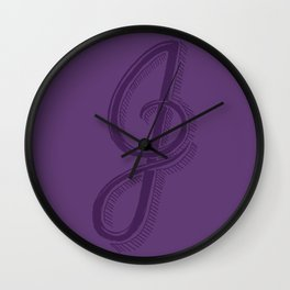 The Letter J Wall Clock