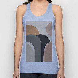 abstract minimal sunrise Unisex Tank Top