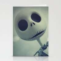 nightmare before christmas Stationery Cards featuring Mr. Jack (Nightmare Before Christmas) by LT-Arts