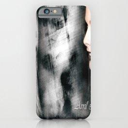 A Beautiful Avril Lavigine Singing wallpaper/poster design iPhone Case