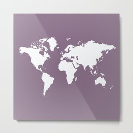 Lavender Elegant World Metal Print