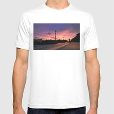 Miami Sunrise MEDIUM Mens Fitted Tee White