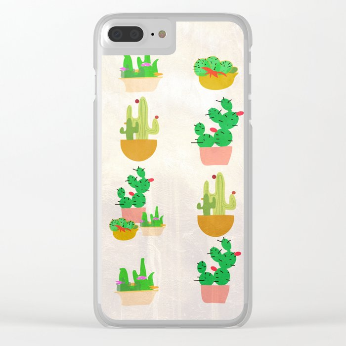 Cacti Festival Clear iPhone Case