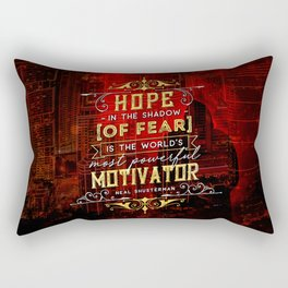 Hope in the shadow Rectangular Pillow