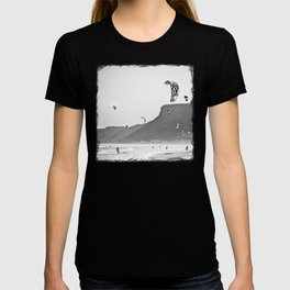 Windsurfers having fun on the Atlantic Ocean - Landscape Photography #Society6 T-shirt