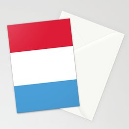 Luxembourg flag emblem Stationery Cards