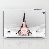 paris iPad Cases featuring pariS Black & White + Pink by 2sweet4words Designs