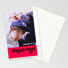 "K-Pop Design NCT Doyoung ""Cherry Bomb"" Stationery Cards"